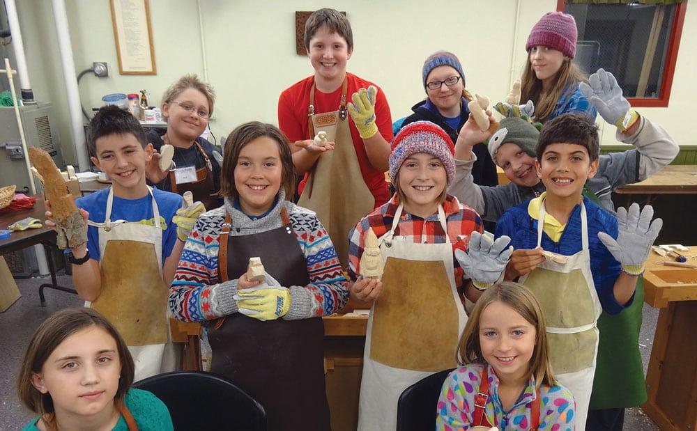 Folk Art School Whittling Klubb
