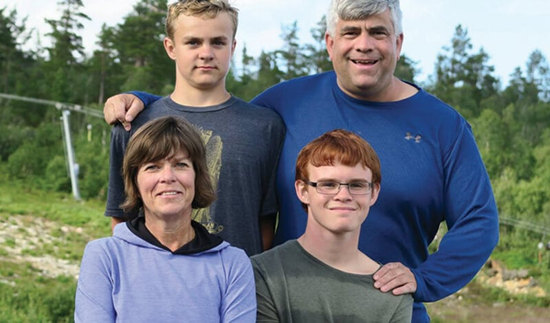 Kirsten and David Heine and their two sons support Vesterheim Museum through planned giving.