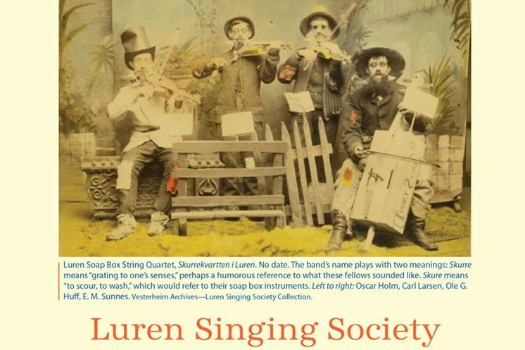 Vesterheim archive photo of Luren Soap Box String Quartet