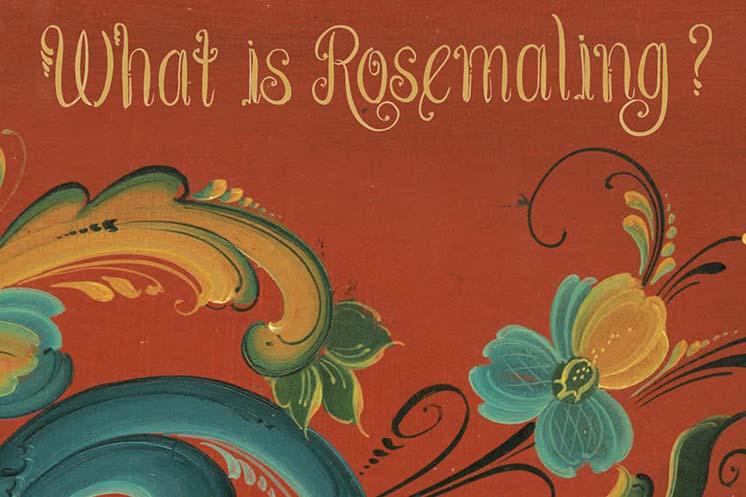 Rosemaling Letter Booklet cover