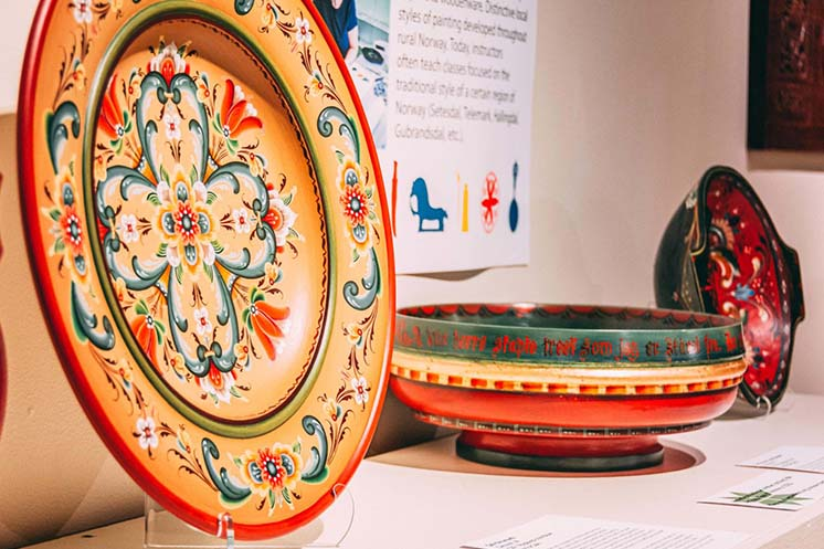 Rosemaling entries in Vesterheim's National Norwegian-American Folk Art Exhibition 2019