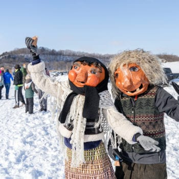 The Norwegian huldrafolk came our for fun in the Decorah Prairie during Vesterheim and Sons of Norway Barneløpet Children's Ski Event