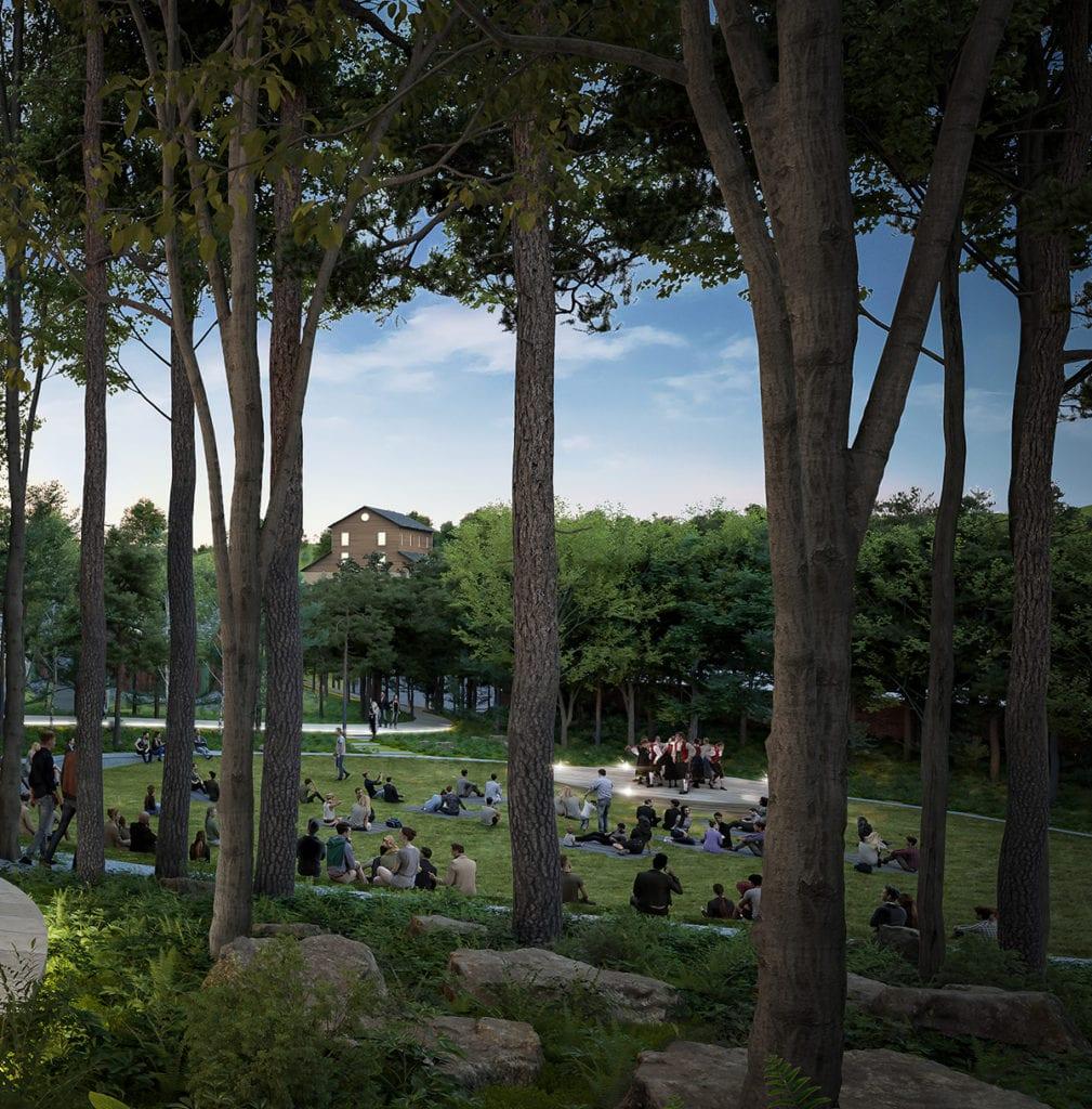 Architectural renderings of Vesterheim's new Heritage Park, courtesy of Snøhetta.