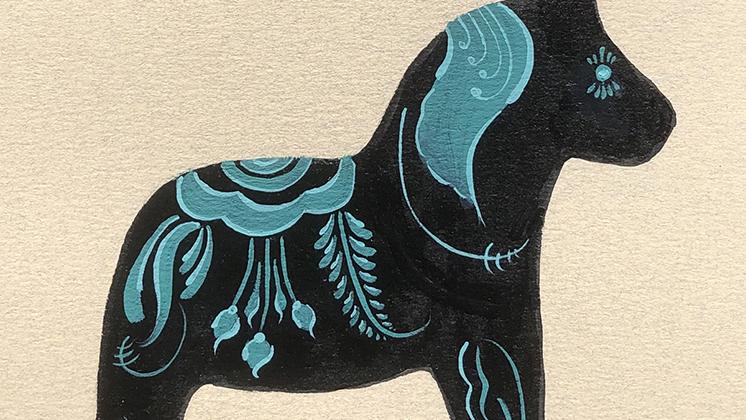Painted Dala horse by Natalie Vestin