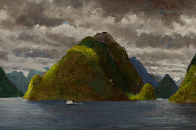 On Doubtful Sound painting by Carl Homstad